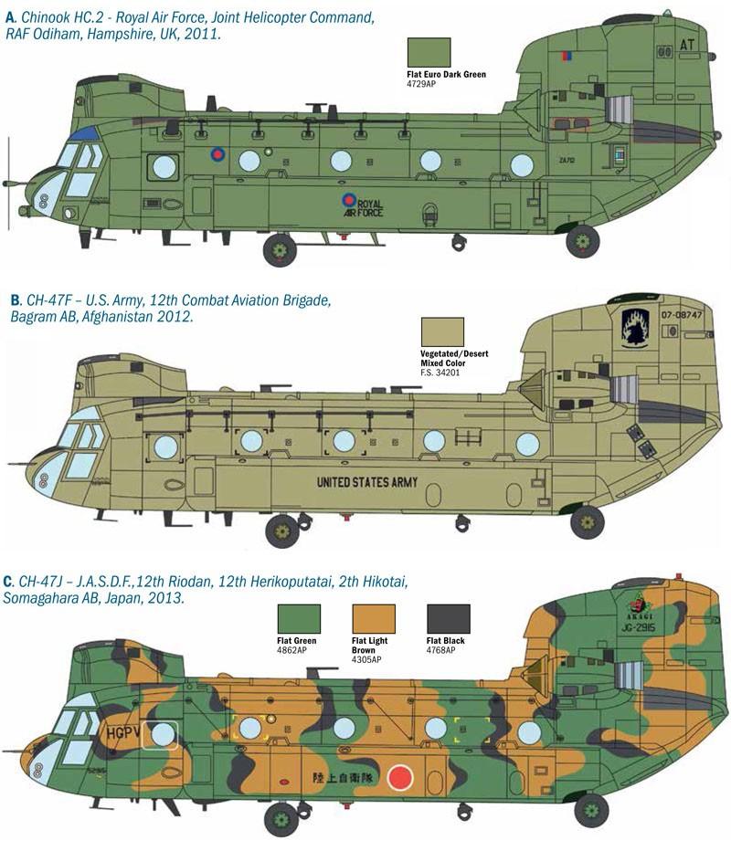 Chinook HC.2 CH-47F - 1/48 - Italeri 2779  - BLIMPS COMÉRCIO ELETRÔNICO