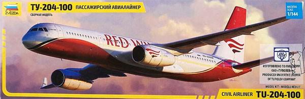 Civil airliner Tu-204-100 - 1/144 - Zvezda 7023  - BLIMPS COMÉRCIO ELETRÔNICO