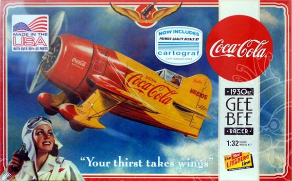 Coca-Cola 1930s Gee-Bee Racer - 1/32 - Lindberg HL515  - BLIMPS COMÉRCIO ELETRÔNICO