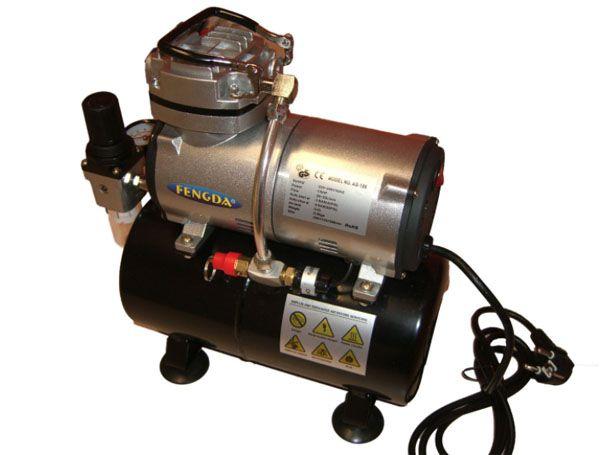 Compressor de ar de um cilindro com tanque - Fengda AS-186  - BLIMPS COMÉRCIO ELETRÔNICO