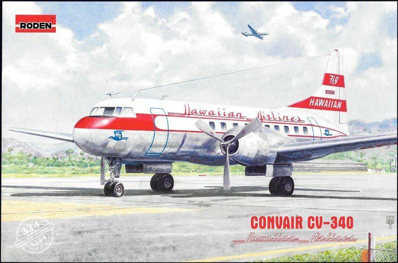 Convair CV-340 Hawaiian Airlines - 1/144 - Roden 334  - BLIMPS COMÉRCIO ELETRÔNICO