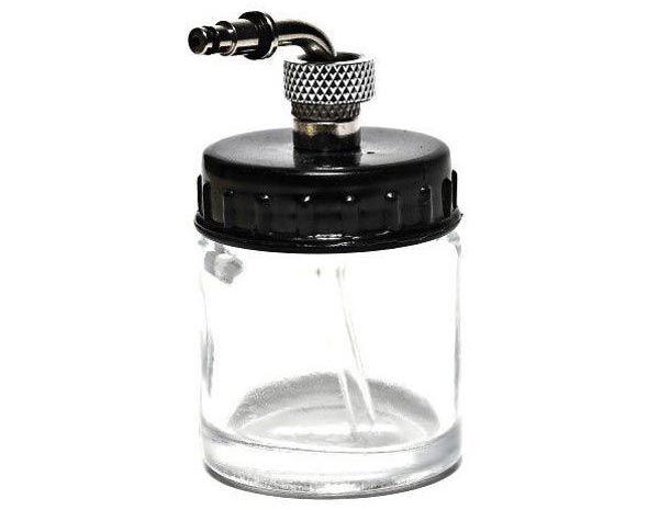 Copo de vidro com bico e tampa para aerógrafo - Fengda BD-07  - BLIMPS COMÉRCIO ELETRÔNICO
