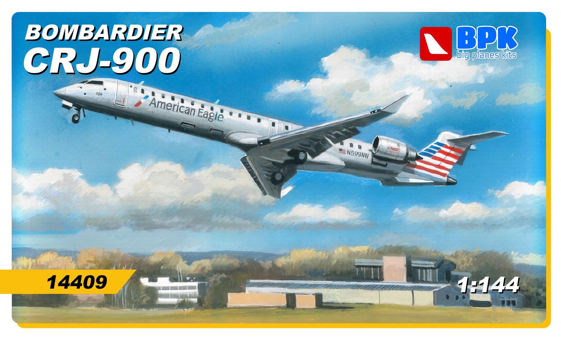 Bombardier CRJ-900 - 1/144 - BPK 14409  - BLIMPS COMÉRCIO ELETRÔNICO