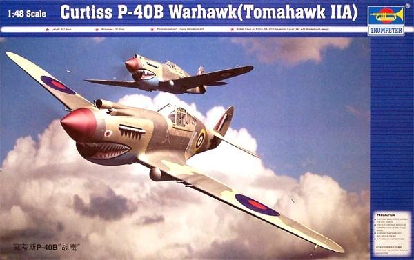 Curtiss P-40B Warhawk (Tomahawk MKIIA) - 1/48 - Trumpeter 02807  - BLIMPS COMÉRCIO ELETRÔNICO