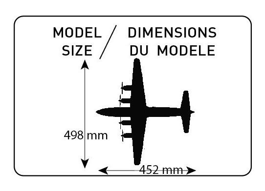 DC-6 Super Cloudmaster - 1/72 - Heller 80315  - BLIMPS COMÉRCIO ELETRÔNICO