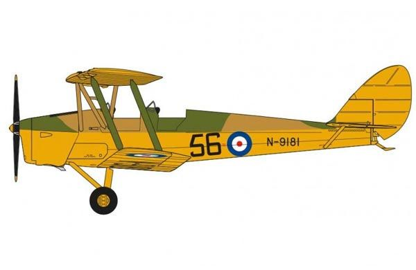 De Havilland DH.82a Tiger Moth - 1/72 - Airfix A01025  - BLIMPS COMÉRCIO ELETRÔNICO