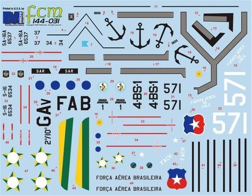 Decalque Albatros FAB 1/144 - FCM 144-031  - BLIMPS COMÉRCIO ELETRÔNICO
