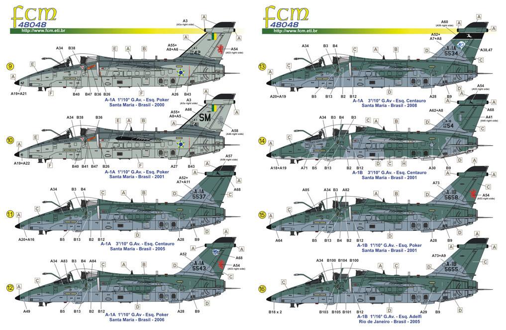 Decalque AMX A-1A/B/M 1/48 - FCM 48-048  - BLIMPS COMÉRCIO ELETRÔNICO