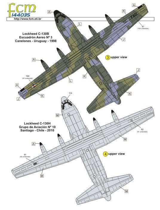 Decalque Lockheed C-130E Hercules da FAB 1/144 - FCM 144-035  - BLIMPS COMÉRCIO ELETRÔNICO