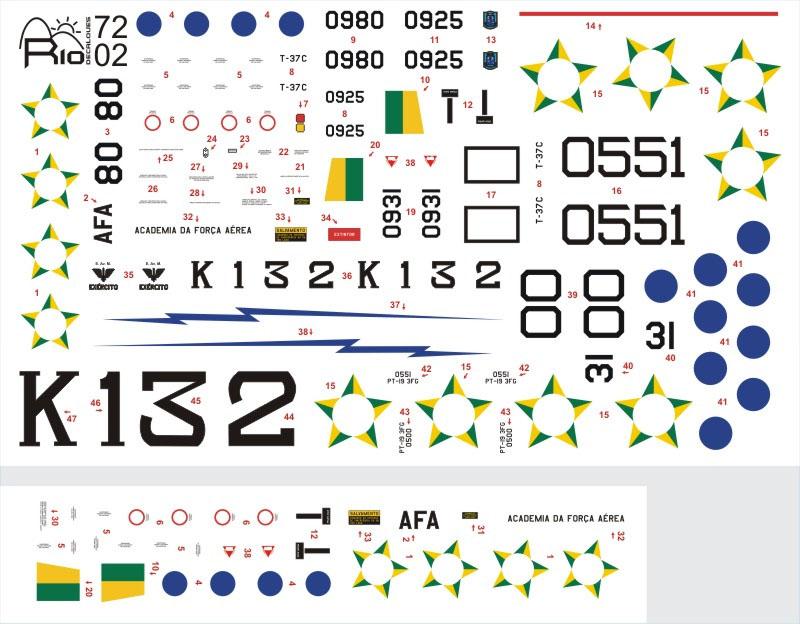 Decalque Treinadores Brasileiros 1/72 - FCM Rio 72002  - BLIMPS COMÉRCIO ELETRÔNICO