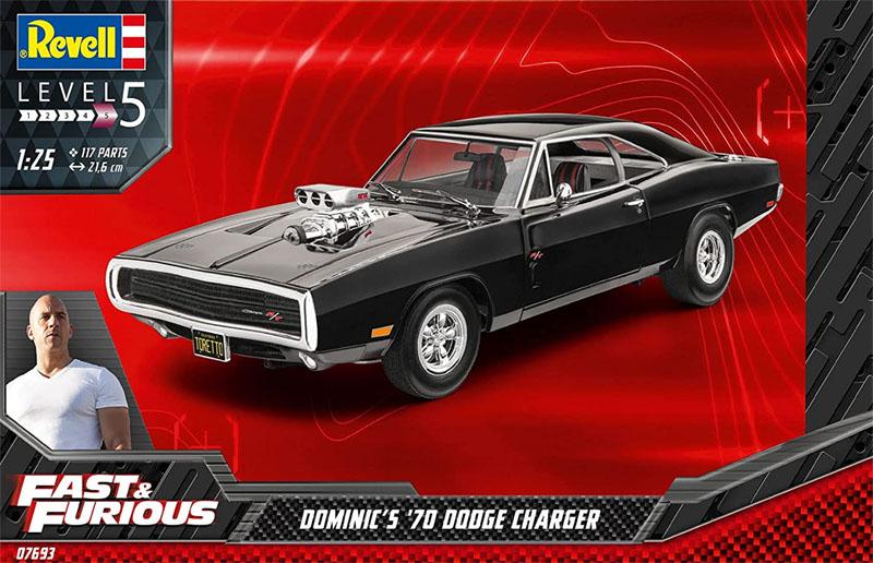 Dodge Charger 1970 Dominics Velozes e Furiosos - 1/25 - Revell 07693  - BLIMPS COMÉRCIO ELETRÔNICO