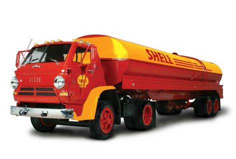 Dodge L700 com carreta tanque Shell - 1/25 - Lindberg HL118  - BLIMPS COMÉRCIO ELETRÔNICO