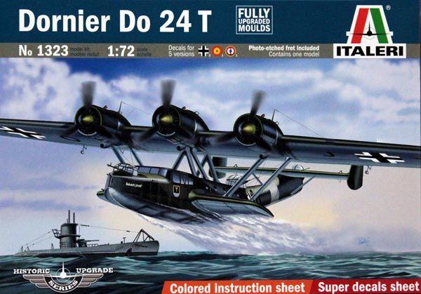 Dornier Do 24 T - 1/72 - Italeri 1323  - BLIMPS COMÉRCIO ELETRÔNICO