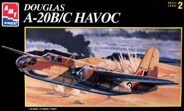 Douglas A-20B/C Havoc - 1/48 - ERTL 8644  - BLIMPS COMÉRCIO ELETRÔNICO