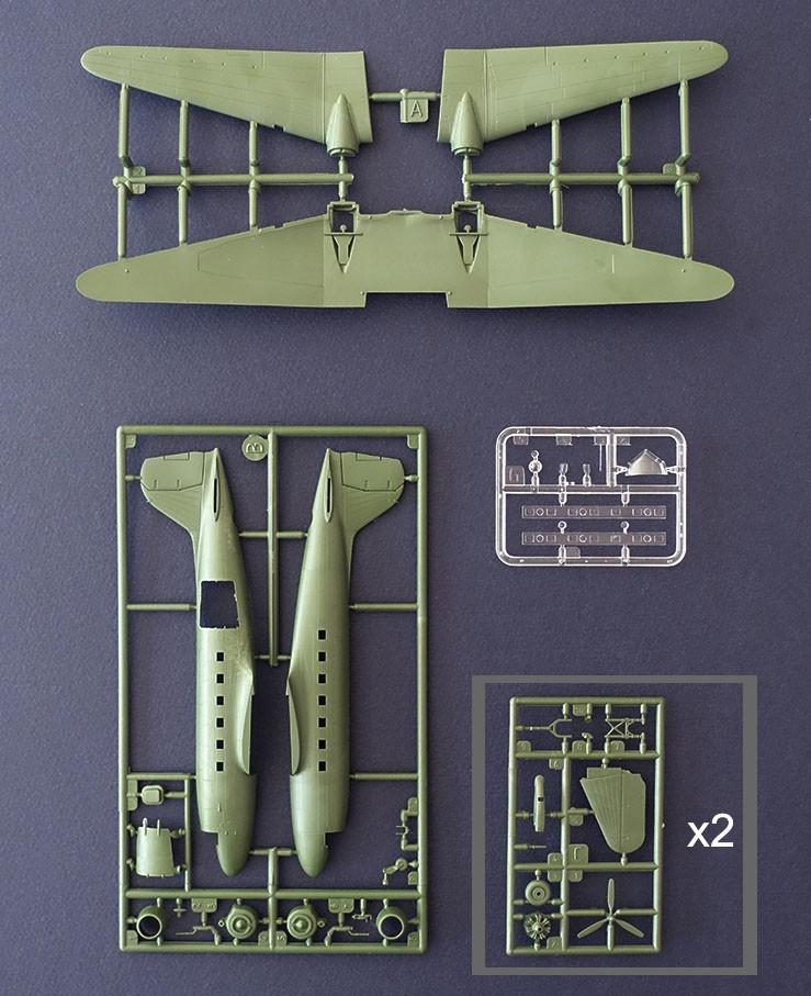 Douglas C-47 Skytrain D-Day - 1/144 - Roden 300  - BLIMPS COMÉRCIO ELETRÔNICO