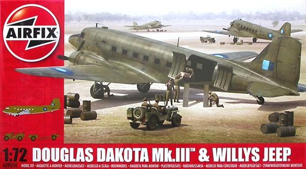 Douglas Dakota Mk.III e Willys Jeep - 1/72 - Airfix A09008  - BLIMPS COMÉRCIO ELETRÔNICO