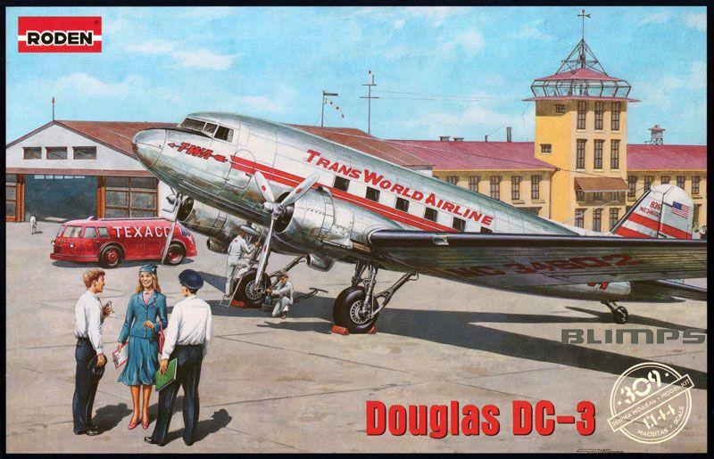 Douglas DC-3 - 1/144 - Roden 309  - BLIMPS COMÉRCIO ELETRÔNICO
