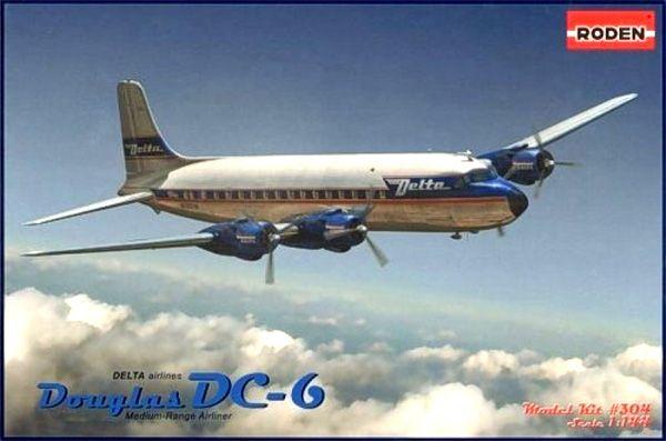 Douglas DC-6 Delta Airlines - 1/144 - Roden 304  - BLIMPS COMÉRCIO ELETRÔNICO