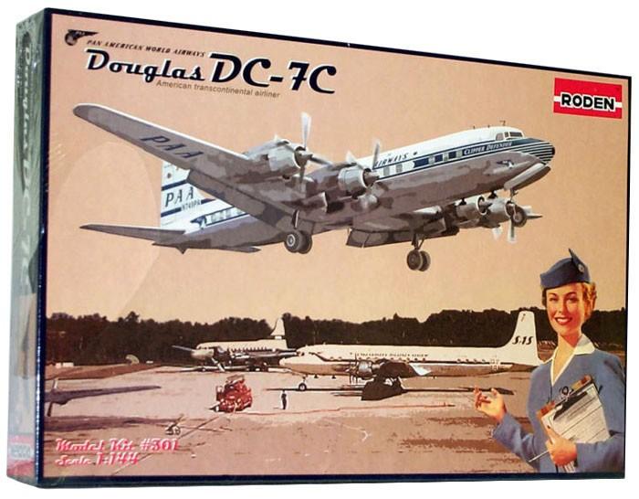 Douglas DC-7C Pan American Airways - 1/144 - Roden 301  - BLIMPS COMÉRCIO ELETRÔNICO