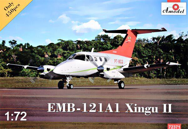 EMB-121A1 Xingu II - 1/72 - Amodel 72371  - BLIMPS COMÉRCIO ELETRÔNICO