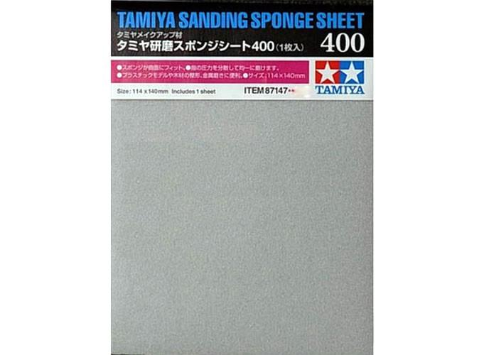 Esponja com lixa 400 - Tamiya 87147  - BLIMPS COMÉRCIO ELETRÔNICO