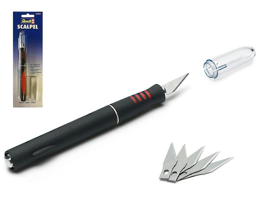 Estilete com 5 lâminas de reposição - Revell 39059  - BLIMPS COMÉRCIO ELETRÔNICO