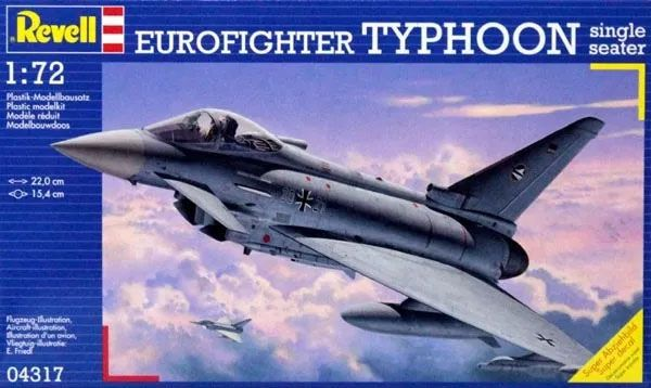 Eurofighter Typhoon Single Seater - 1/72 - Revell 04317  - BLIMPS COMÉRCIO ELETRÔNICO