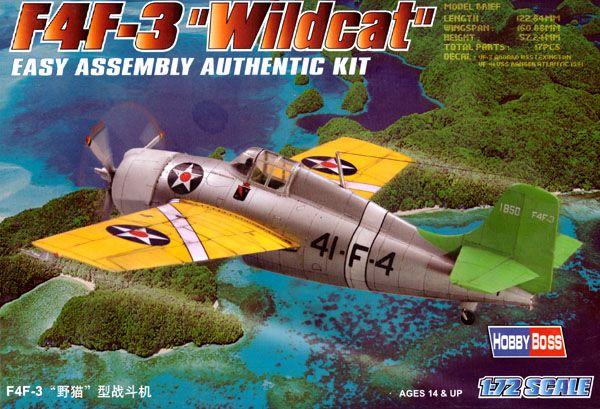"F4F-3 ""Wildcat"" - 1/72 - HobbyBoss 80219  - BLIMPS COMÉRCIO ELETRÔNICO"