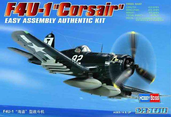 F4U-1D Corsair - 1/72 - HobbyBoss 80217  - BLIMPS COMÉRCIO ELETRÔNICO