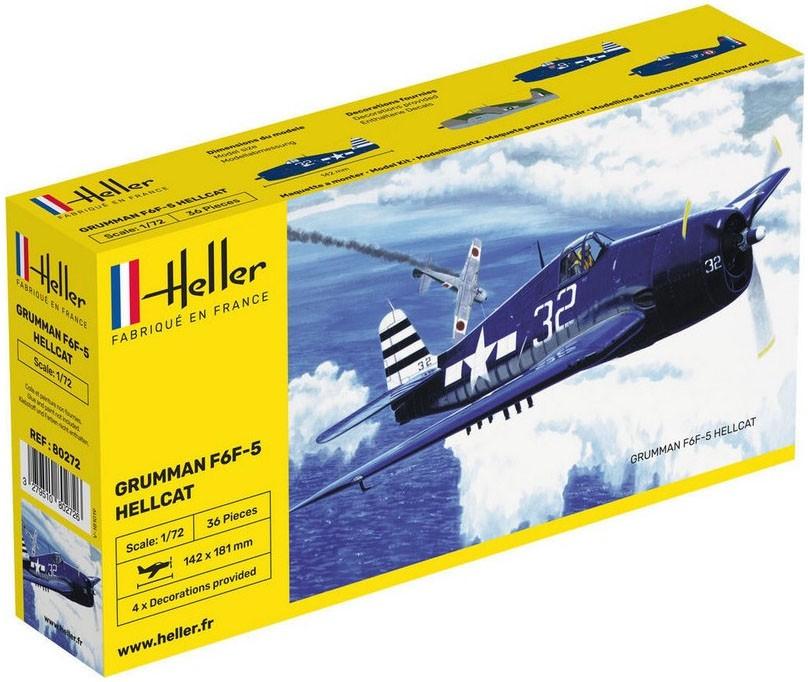 F6F-5 Hellcat - 1/72 - Heller 80272  - BLIMPS COMÉRCIO ELETRÔNICO