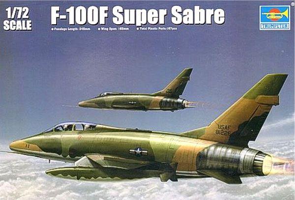 F-100F Super Sabre - 1/72 - Trumpeter 01650  - BLIMPS COMÉRCIO ELETRÔNICO