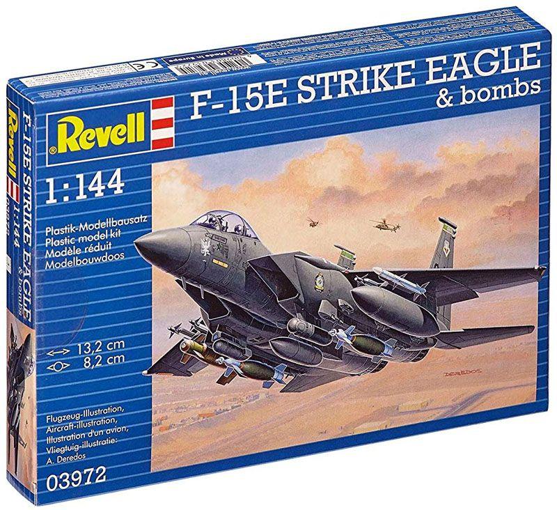 F-15E Strike Eagle & bombs - 1/144 - Revell 03972  - BLIMPS COMÉRCIO ELETRÔNICO