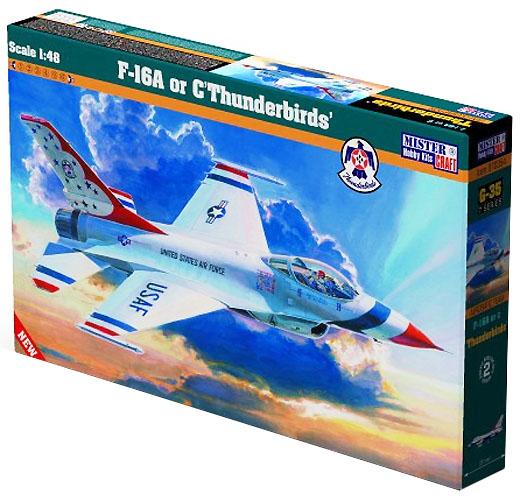 F-16A ou C Thunderbirds - 1/48 - Mistercraft G-35  - BLIMPS COMÉRCIO ELETRÔNICO
