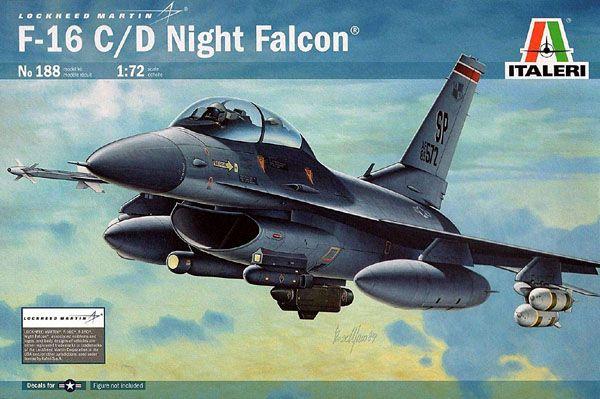 F-16C/D Night Falcon - 1/72 - Italeri 188  - BLIMPS COMÉRCIO ELETRÔNICO