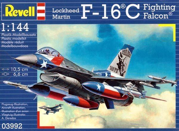 F-16C Fighting Falcon - 1/144 - Revell 03992  - BLIMPS COMÉRCIO ELETRÔNICO
