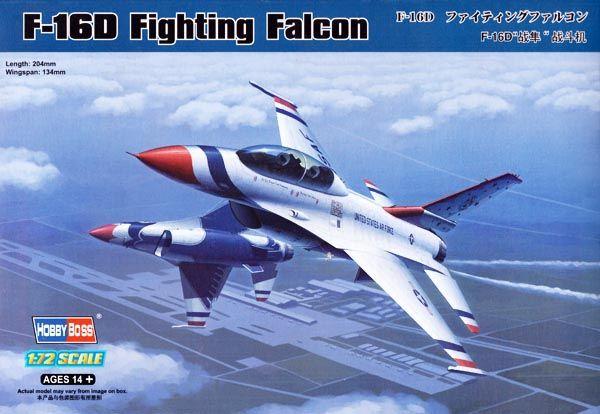 F-16D Fighting Falcon - 1/72 - HobbyBoss 80275  - BLIMPS COMÉRCIO ELETRÔNICO