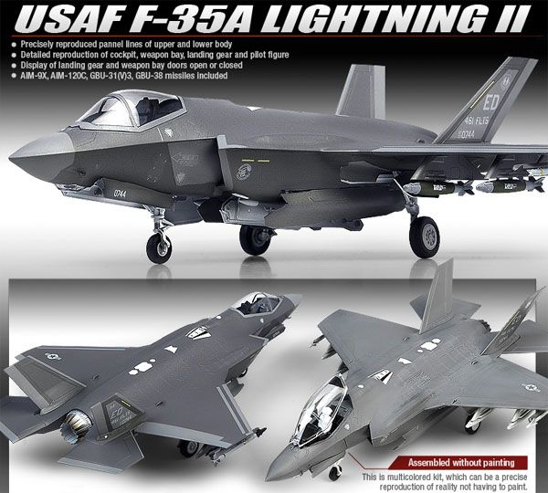 F-35A Lightning II - 1/72 - Academy 12507  - BLIMPS COMÉRCIO ELETRÔNICO
