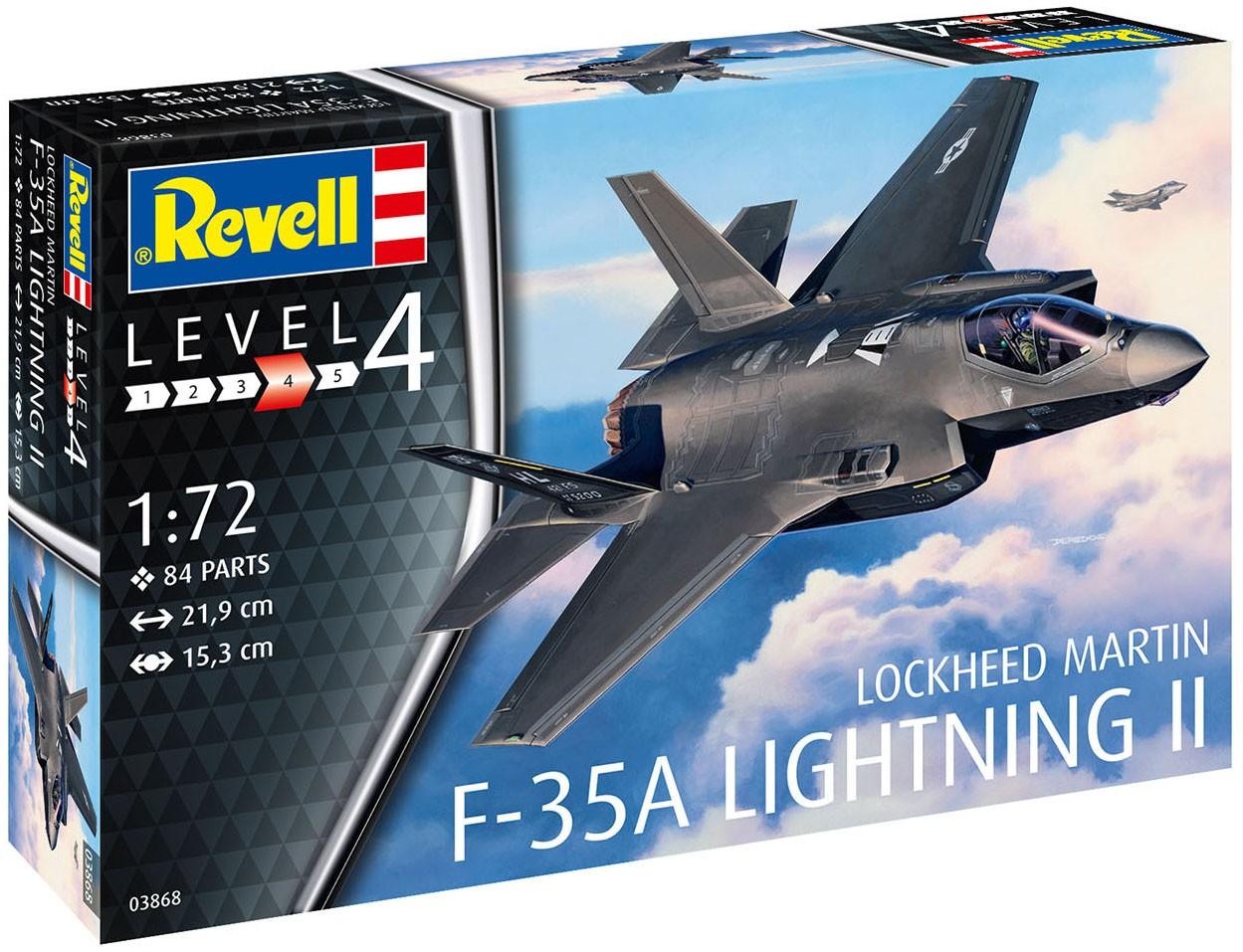 F-35A Lightning II - 1/72 - Revell 03868  - BLIMPS COMÉRCIO ELETRÔNICO