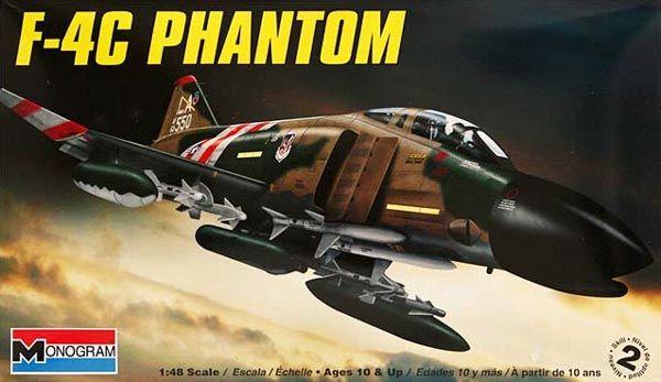 F-4C Phantom - 1/48 - Monogram 85-5859  - BLIMPS COMÉRCIO ELETRÔNICO
