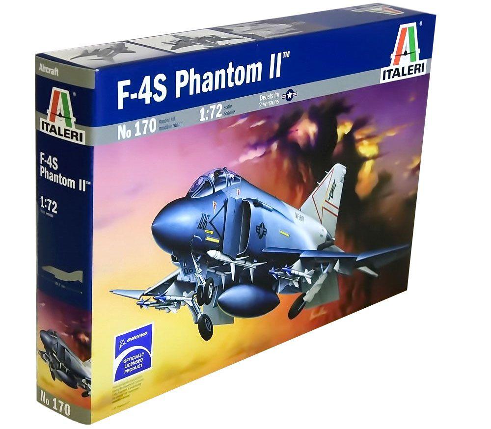 F-4S Phantom II - 1/72 - Italeri 170  - BLIMPS COMÉRCIO ELETRÔNICO