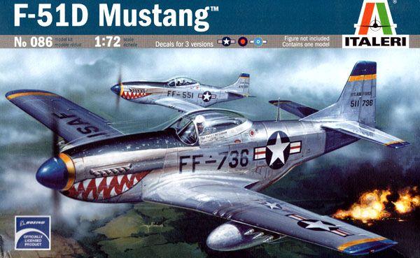 F-51D Mustang - 1/72 - Italeri 086  - BLIMPS COMÉRCIO ELETRÔNICO
