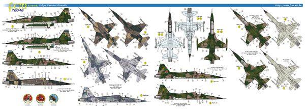 F-5E Tiger II - 1/72 - Italeri 1395 - com decalques FAB  - BLIMPS COMÉRCIO ELETRÔNICO