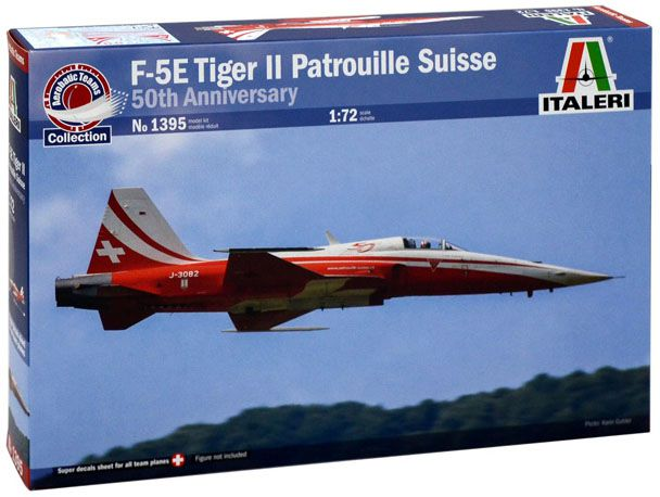 F-5E Tiger II Patrouille Suisse - 1/72 - Italeri 1395  - BLIMPS COMÉRCIO ELETRÔNICO