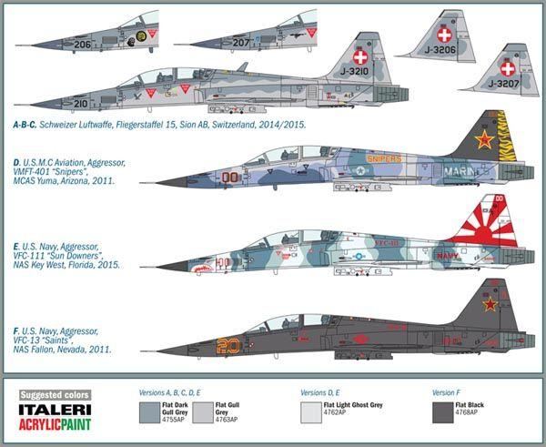 F-5F Tiger II - 1/72 - Italeri 1382  - BLIMPS COMÉRCIO ELETRÔNICO
