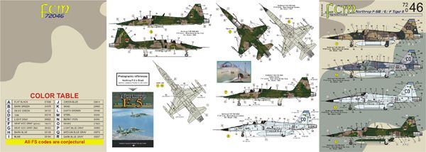 F-5F Tiger II - 1/72 - Italeri 1382 - com decalques FAB  - BLIMPS COMÉRCIO ELETRÔNICO