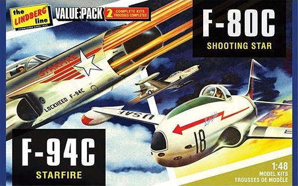 F-80C e F-94C - 1/48 - Lindberg HL509  - BLIMPS COMÉRCIO ELETRÔNICO