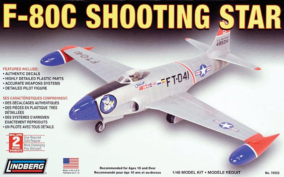 F-80C Shooting Star - 1/48 - Lindberg 70552  - BLIMPS COMÉRCIO ELETRÔNICO