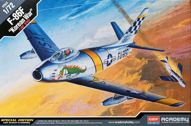 F-86F Korean War - 1/72 - Academy 12546  - BLIMPS COMÉRCIO ELETRÔNICO