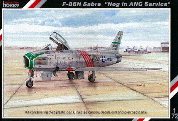 """F-86H Sabre """"Hog in ANG Service"""" - 1/72 - Special Hobby 72167  - BLIMPS COMÉRCIO ELETRÔNICO"""