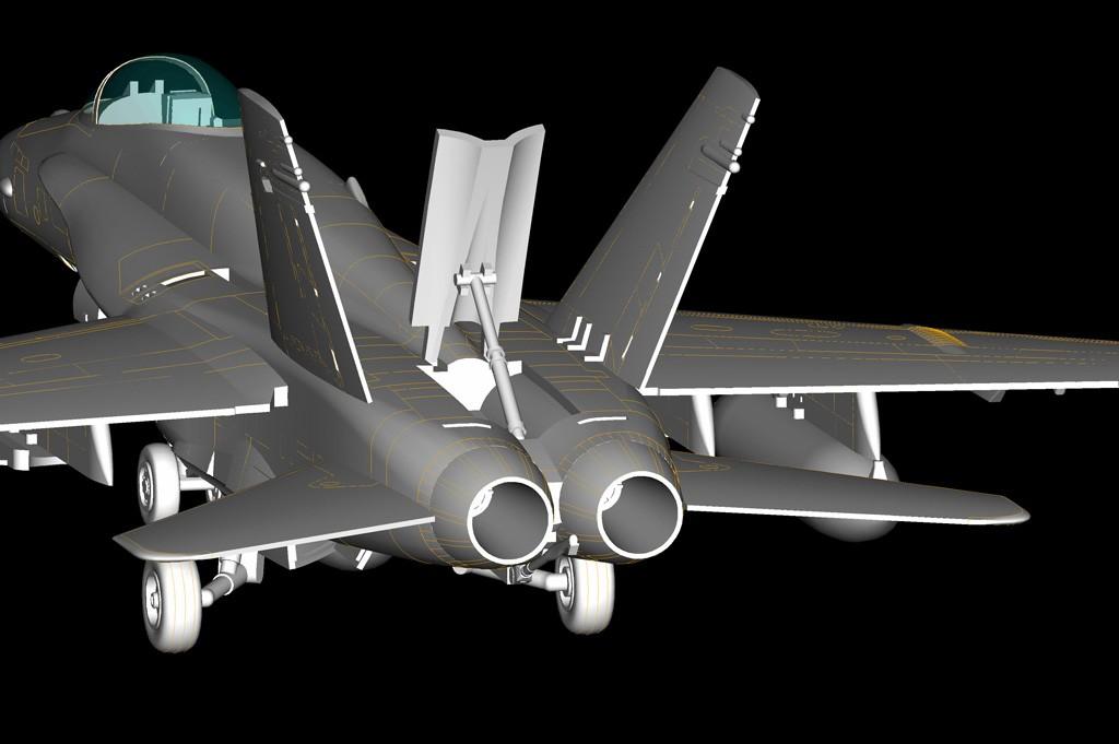 F/A-18A Hornet - 1/72 - HobbyBoss 80268  - BLIMPS COMÉRCIO ELETRÔNICO